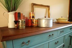 staged sideboard
