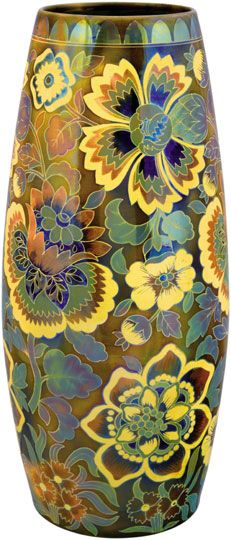Cigar vase décored with Hungarian motifs, Zsolnay, 1898