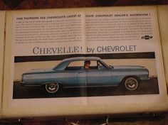 1964 Chevy Car ad  Life Magazine by LkcDesign on Etsy, $9.50