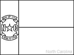 Black and White NC Flag