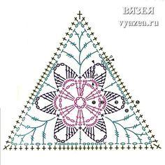 Картинки по запросу вязание крючком треугольные мотивы
