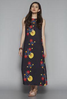 Bombay Paisley by Westside Black Printed Maxi Dress