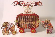 Circus Tin- Alpha Stamps