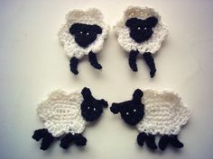 Crochet sheep applique pdf pattern by Thehobbyhopper on Etsy, $3.50