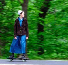 #amish #skateboarding