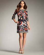 love the pattern on this dress. Possibility for S's wedding.