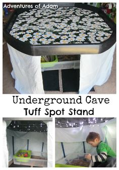 Underground Cave Tuff Spot We have been desperate to make a den. As our Tuff Spot A-Z Challenge letter is U we had the perfect Gruffalo Activities, Eyfs Activities, Nursery Activities, Infant Activities, Activities For Kids, Activity Ideas, Shape Activities, Nursery Crafts, Counting Activities