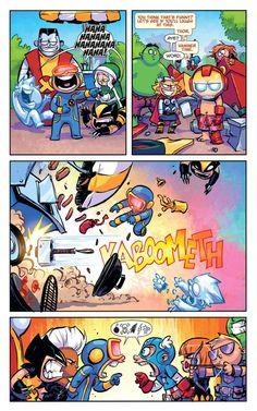 Baby Marvel, Marvel Kids, Baby Avengers, Disney Marvel, Marvel Avengers, Marvel Comics Art, Marvel Jokes, Marvel Funny, Rogue Gambit