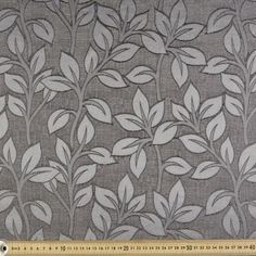 Fabric By The Metre At Spotlight - Cotton Fabric + Textile Pattern Design, Textile Patterns, Jacquard Fabric, Cotton Fabric, Dalian, Geometric Throws, Curtains With Blinds, Grey And White, Leaves