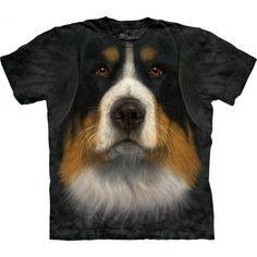 The amazingly realistic image is so impressive! This cool 'Bernese Mountain Dog FaceT-Shirt'is designed special for you by The…