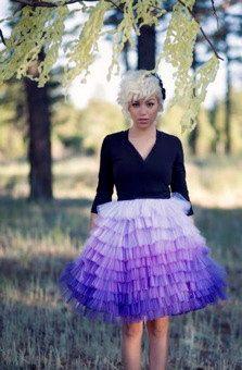 Hand Dyed Ombre Ruffled Tulle Skirt  Carolina by ouma on Etsy, $340.00