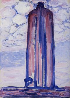 Piet Mondrian. Lighthouse at Westkapelle with Clouds, 1908-9. Oil on canvas, 71 x 52 cm