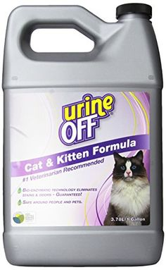 Urine Off Odor and Stain Remover for Cats 1 Gallon