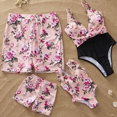 Yaffi Family Matching Swimwear One Piece Mommy and Me Swimsuits 2019 Newest Floral Monokini Bathing Suits, Monokini Swimsuits, Cute Swimsuits, Cute Casual Outfits, Kids Outfits, Mommy And Me Swimwear, Girls Bathing Suits, Baby Bathing, Designer Kids Clothes, Matching Family Outfits