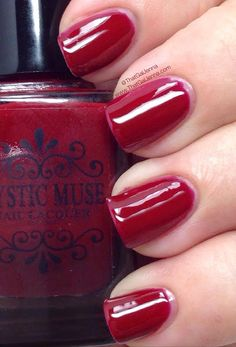 ThatGalJenna: Mystic Muse Nail Lacquer Review and Swatches - Autumn Reflections Collection - Cranberry