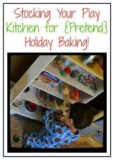 Stocking Your Play Kitchen for {Pretend} Holiday Baking!