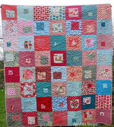 I Spy A Square finished quilt