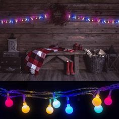 LED Concepts LED String Globe Lights, 100 LED Bulbs with 8 Lighting Modes, UL Listed Power Supply, Multi-Color, Multicolor