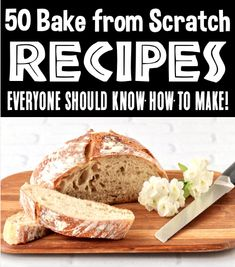 Bake From Scratch Recipes: Homemade Bread, Cookies, Bars, Brownies, Pies and more! These easy and delicious breads and desserts will make you a kitchen superstar in no time! Go grab the recipes and give some a try this week! Tasty Bread Recipe, Bread Recipes, Crockpot Recipes, Baking Recipes, Easy Thanksgiving Recipes, Easter Dinner Recipes, Christmas Recipes, Cookie Frosting Recipe, Baking For Beginners