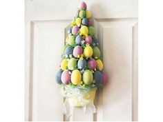 Easter door decoration that is not a wreath - love it