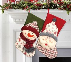 Christmas Stockings Enfeites De Natal Hand Making Crafts Children Candy Gift Bag Santa Bag Elk The Old Man Snowman Christmas Gifts For Coworkers, Christmas Gift Baskets, Christmas Gift Wrapping, Clear Christmas Ornaments, Christmas Door Decorations, Christmas Diy, Quilted Christmas Stockings, Candy Gifts, Beautiful Christmas