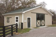 This little barn would be nice as a small trainee or boarding barn for client horses.