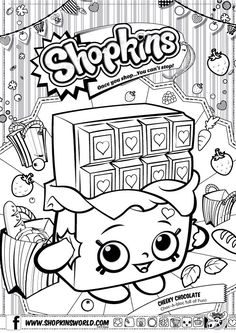Shopkins Colour Color Page Cheeky Chocolate ShopkinsWorld