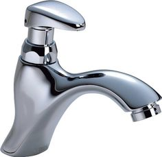 Bathroom Faucets DIY | Delta Commercial 87T111 87T Single Hole Metering SlowClose Bathroom Faucet Chrome -- See this great product.(It is Amazon affiliate link) #c4c