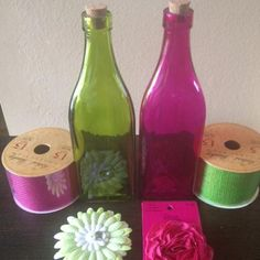 Easy hobby lobby inspired decorated bottles.