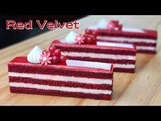 Măsură de cupă / Rețetă de tort de catifea roșie / Cremă de brânză cremă / Red Velvet Cake - YouTube Red Velvet Cake Rezept, Fruit Birthday Cake, French Apple Cake, Almond Cookies, Brownie Cake, Pastry Cake, Tea Cakes, Cake Tutorial, How Sweet Eats