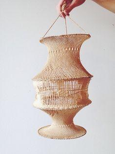 Pretty cotton macramé lantern