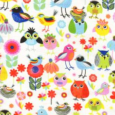 Timeless Treasures House Designer - Childrens Novelty - Birds of a Feather in Multi