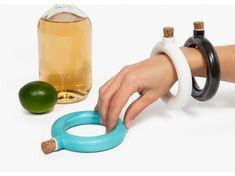 """Bracelet Flask 39$ By Object & Totem -  $39.00 USD - WANT !!!!!   4.3"""" x 4"""" x .07"""" Capacity: 1 oz Material: Porcelain with FDA Glaze."""