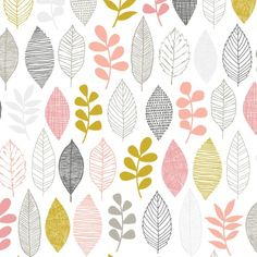 Arriving May 29 - First Light - Leaf Sampler - Pink - Designer Fabric - Cloud 9 Organic Fabric Collections Textile Patterns, Textile Design, Fabric Design, Print Patterns, Cloud 9, Fabric Remnants, Modern Fabric, Surface Pattern Design, One Light
