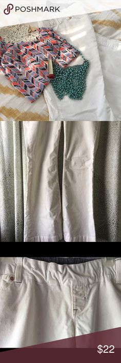 White maternity pants Been used couple times. Boots flare, in great shape, has small belly support belt, warm, white color. Size 29/8, 4 pockets: 2 one side and 2 on the back. GAP Pants Boot Cut & Flare