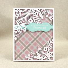 Winter Floral Thank You Card by Lizzie Jones for Papertrey Ink (October 2015)