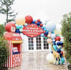 The greatest carnival for Adonis & Apollo's First Birthday styled by the uber talented Swipe for all the fun! Circus Carnival Party, Kids Carnival, Circus Theme Party, Carnival Birthday Parties, First Birthday Parties, Birthday Party Decorations, Vintage Circus Party, Carnival Ideas, Birthday Ideas