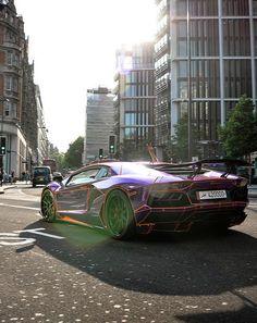 ♂ Purple Luxury Car Lamborghini #vehicles #wheels