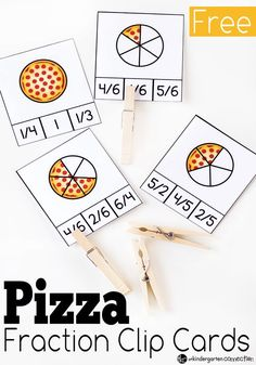 What kid doesn't love pizza? My kids would eat it every day if I would let them. It just so happens that pizza is great for learning about fractions! All the kids will love using these pizza fraction
