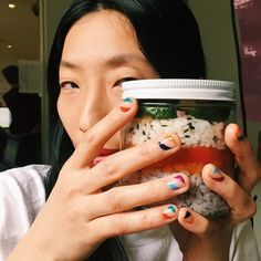 Head over to @intothegloss for the minimalist's guide to good nail art and an array of fresh @sally_hansen nail colors to kick start your spring. Starring: The beautiful @keekee_kud