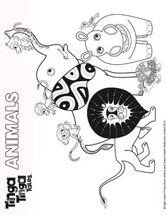 1000 images about tinga tinga tales on pinterest for Tinga tinga coloring pages