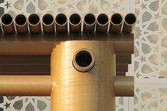 detail from Shigeru Ban's pavilion in Abu Dhabi