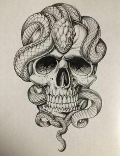 Skull/snake