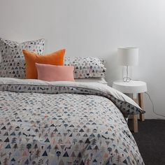 Forest Reversible Duvet Cover with Night Piping by Citta Design | Citta Design Australia