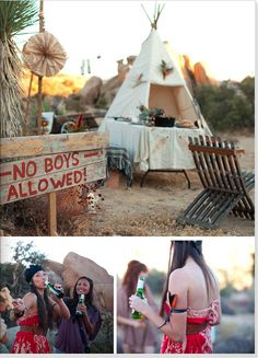 Camping bachelorette party yes please