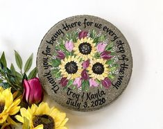 Personalized Wedding Garden Stone Gifts for Parents with ANY FLOWERS names, titles and dates! Wedding Gifts For Parents, Bride And Groom Gifts, Flower Names, Wedding Glasses, Parent Gifts, Garden Stones, Mother Gifts, Personalized Wedding, Mother Of The Bride