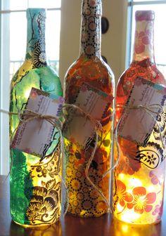 Custom Wine Bottle Lamp Unique Wine Bottle Lamps Nepalese
