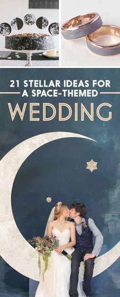 21 Stellar Ideas For An Astronomy-Themed Wedding Your love for space + my lunar calendar heritage: 21 Stellar Ideas For A Space-Themed Wedding Wedding Favors, Party Favors, Wedding Venues, Wedding Invitations, Favours, Wedding Decor, Star Wedding Themes, Wedding Theme Ideas Unique, Nautical Wedding