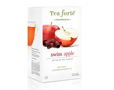Swiss Apple Skin Smart Eco Tea Bags - Skin support rooibos tea. Caffeine-free rooibos tea with the taste of fresh crisp apples, euphoric Alpine chocolate, and a tingle of cinnamon. Each box contains 16 tea bags. Now available at Room to Room.....909-866-4464