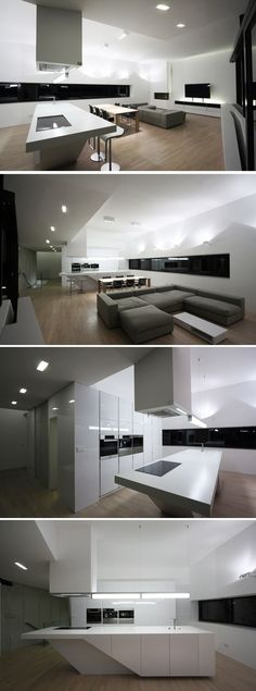 What a great use of space, this could be a great NYC apartment Modern Kitchen_Interior Ideas_House_Architecture....RR